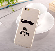 Beard Pattern TPU Soft Case for iphone 6