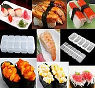 5 rolos de arroz molde nigiri sushi fabricante de bola ferramenta bento diy