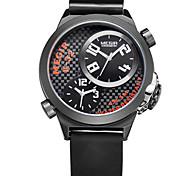 relojes de cuarzo de los hombres impermeables de disco de línea doble venda de reloj de silicona