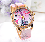 White red  pink 3 colors Women's big watch  Fashion retro cartoon   Hot sell Ladies' punk Diamond Watch