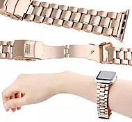 Luxury Metal Gold Wearables Straps 42 mm Watch Band with Detailed Package for Apple Watch (Assorted Colors)