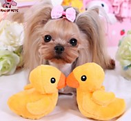 Cat / Dog Pet Toys Plush Toy Squeak / Squeaking / Duck Yellow Textile