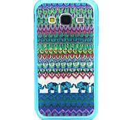 Stammes- Elefant-Muster-TPU Acryl weiche Tasche für Samsung Galaxy Kern prime G360 / galaxy grand prime G530