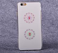 TPU acrílico patrón mahjong cubierta suave para el iphone 6 más