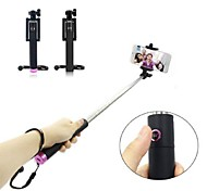 Selfie Stick U-Shape 3 in 1 Extendable Self Portrait Monopod with Bluetooth Remote Shutter Adjustable Holder for iPhone