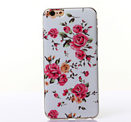 Peony Flowers Pattern TPU Soft Case for iPhone 6 Plus