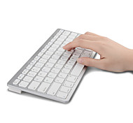 Ultra Compact Slim Profile Wireless Bluetooth Keyboard for iOS, Android, Windows and Mac (White and Black)