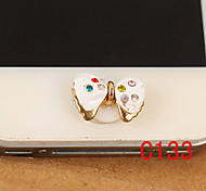 Bowknot Zircon Home Button Sticker for iPhone