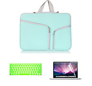 2016 Newest Canvas Double Chain Notebook Bag with keyboard cover and screen flim for  MacBook Pro 13.3 inch