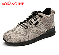 Aokang Men's Shoes Outdoor/Athletic/Casual Leather Fashion Sneakers Beige