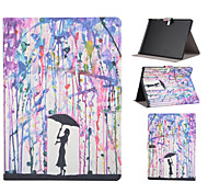 Rain Girl Pattern PU Leather Full Body Case with Stand Slot for T530/T550/T800