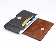 Outdoors Men's PU Leather Cards Belt Pouch for iPhone 5/5S.