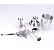 5pcs acciaio inox cocktail bar kit mixer agitatore bevanda barista set strumenti