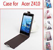 de cuero flip caso protector magnético para Z410 acer (colores surtidos)