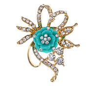 Flower Type Irregular Brooch Diamond Color More(Random color)