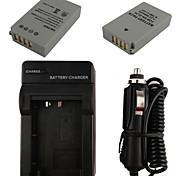 x2 el24 batería de la cámara 850mAh + cargador de coche para Nikon 1 j5