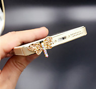 Dragonfly Zircon 3.5mm Dustproof Plug for iPhone Sumsung