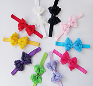 Children Kids Baby Girls Headbands Lace Flowers Bow Infant Headbands Hair Accessories Christmas Gifts