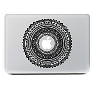 flor circular 2 adhesivo decorativo para macbook air / pro / pro con pantalla de retina