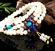 Chinese Style of natural white Bodhi root bead bracelet