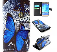 Butterfly Pattern PU Leather Phone Case For Samsung Galaxy A8