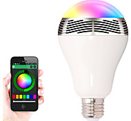 Lâmpada de LED Smart Regulável/Controle Remoto/Bluetooth E26/E27 3 W 836.9mw LM KBranco