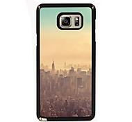 o projeto da cidade de metal fino de volta caso para Samsung Galaxy nota 3 / nota 4 / nota 5 / nota 5 borda