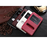 New Arrival Genuine Leather Mobile Phone Case for Coolpad Manito F2 with Window Multicolor