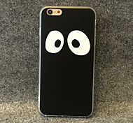 Big Eyes Pattern PU Leather Design TPU Case for iPhone 6