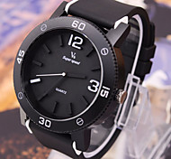Men's Watches Black Body Surface Silica Gel Movement Watch