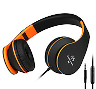 SOUND INTONE  I68  Lightweight Folding 3.5mm,  Stereo Over-ear Headphones Portable Stretch Headsets Leather Earpad
