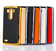 Litchi Back Cover Surface Texture+PC Shell LG G3  Mobile Phone Shell(Various Color)