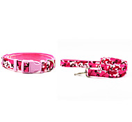 Canvas-The Camouflage Pattern Pet Collar and Leash Suit (Assorted Sizes,Colors)