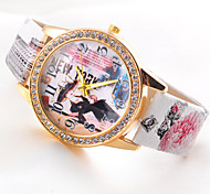 Retro Cartoon   Women's Fashion  Hot sell Ladies' punk Diamond Watch
