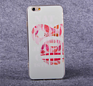Red Mouse Ears Pattern Acrylic TPU Soft Cover for iPhone 6
