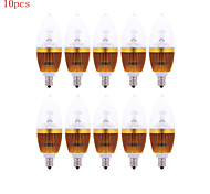 10pcs HRY® 3W E14 300-350LM LED Candle Lights LED Light Bulbs(220V)