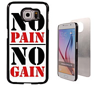 No Pain No Gain Design Aluminum High Quality Case for Samsung Galaxy S6 Edge G925F