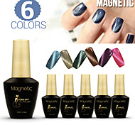 Azure 6Pcs/Lot 3D Cat  Eye Color Nail Gel Magical Soak-Off 3D Effect UV LED Polish (#80+#82+#84+#85+#86+#87)