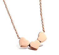 Ms Precision Steel Rose Gold Necklace