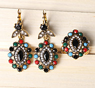 Z&X® Fashion Vintage Colourful Hollow Out Alloy Jewelry Set Party/Casual 1set