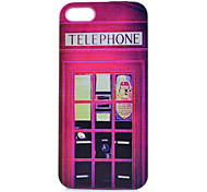 Red Telephone Booth Pattern PC Material Phone Case for iPhone 5C
