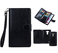 DE JI Wallet PU Leather Case For LG G4/G3 With 9 Card Slot (Assorted Colors)