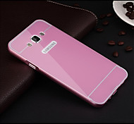 2015 Newest Slim Luxury Metal Back Case Cover for Samsuang Galaxy E7 (Assorted Colors)