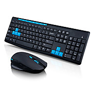 HK3800 2.4GHz Wireless Gaming Keyboard and 1600 DPI Gaming Mouse Desktop Combo-NANO Receiver and Ergonomic Design Mouse