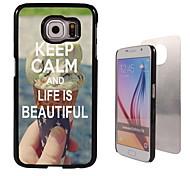 behalten Sie Ruhe und das Leben ist schön Design Aluminium-Qualitätsfall für Samsung-Galaxie s6 sm-g920f