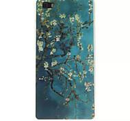 azul hermoso del tpu patrón y la caja del teléfono IMD para Huawei p8 Lite