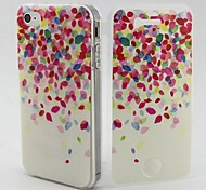 Flower Petal Pattern TPU Soft Full Body Cover Case for iPhone 4/4S
