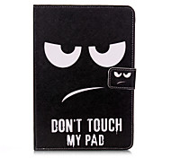 Don't Touch My Cell Phone Pattern PU Leather Full Body Case With Stand for iPad 3 Mini/iPad 2 Mini