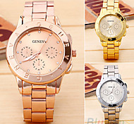 Women's Fashion Geneva Alloy Quartz Watch