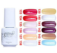 Sequins UV Color Gel Nail Polish No133-144(5ml, Assorted Colors)